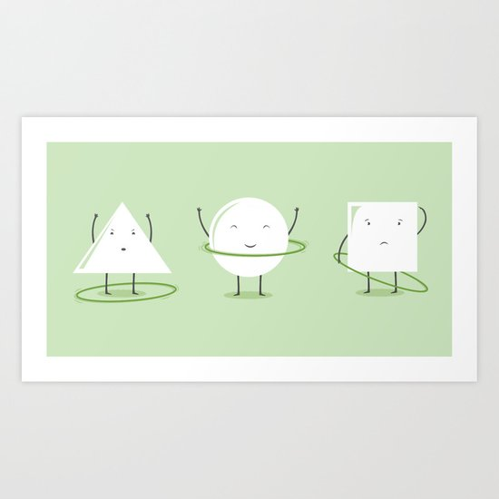 Hula-Hoop Champion Art Print
