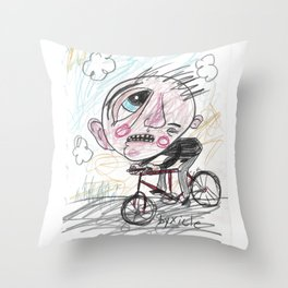 Byxicle Throw Pillow