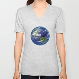 Planet Earth in Space Unisex V-Neck