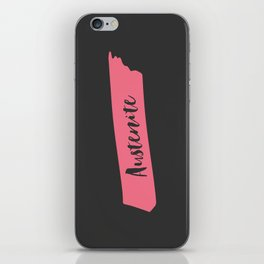 Pink Brush Austenite iPhone Skin