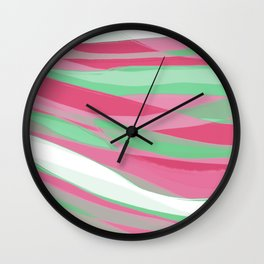 Abrosexual Pride Gentle Layered Paintstrokes Wall Clock