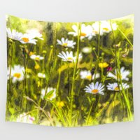oil Wall Tapestries featuring Chamomile Oil by David Pyatt