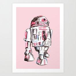 Pink Robot Art Print