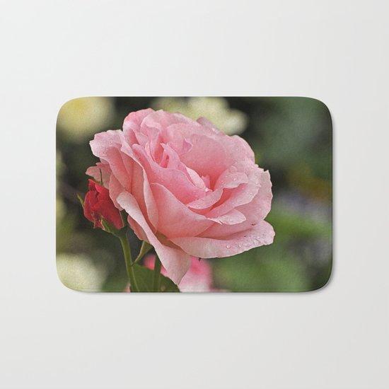 Pink wet rose Bath Mat