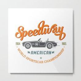 Speedway Metal Print