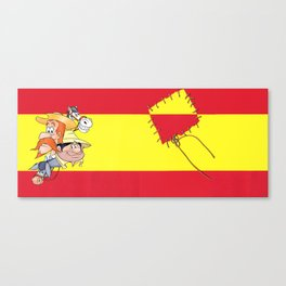 DON QUIXOTE - 400 years and counting - Background Spanish Flag  Canvas Print
