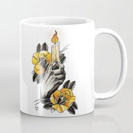 Hand holding CANDLE - tattoo Coffee Mug