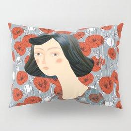 Girl on poppies Pillow Sham