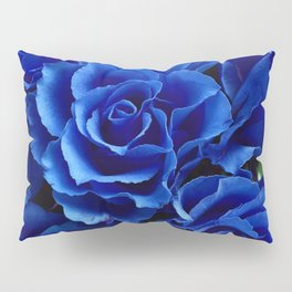 Blue Roses Flowers Plant Romance Pillow Sham