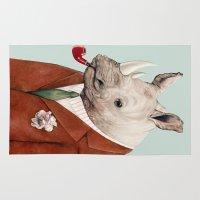 rhino Area & Throw Rugs featuring Rhino by Animal Crew