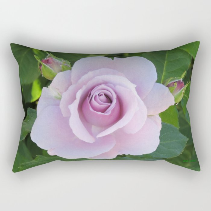 Bloom and Buds Paling to Purple Rectangular Pillow