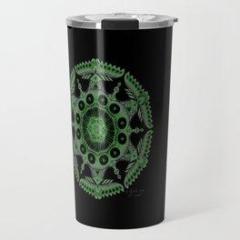 Mandala ~ Peace for Nepal (Healing Green) Travel Mug