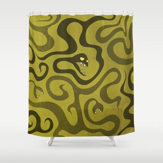 Funny Cartoon Evil Snakes Shower Curtain