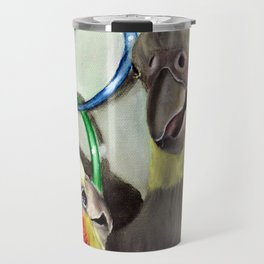 Chit Chat Cockatiel Painting Travel Mug
