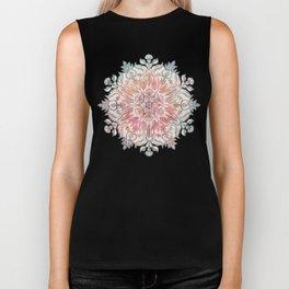 Autumn Spice Mandala in Coral, Cream and Rose Biker Tank