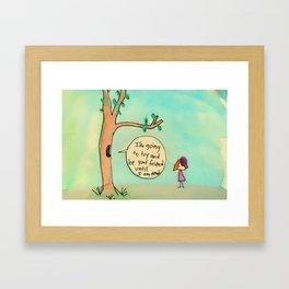 Be Your Friend Framed Art Print
