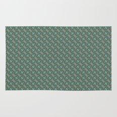 Graphic Old Fashioned Leaf Lattice Pattern Rug