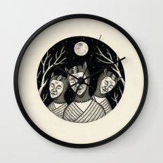 Trio of Narcoleptic Cats Wall Clock