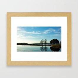 Mirrored Waters Framed Art Print