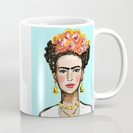 Frida Aqua Coffee Mug