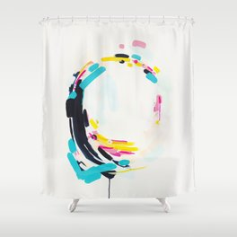 Yesterday to Tomorrow - abstract painting by Jen Sievers Shower Curtain