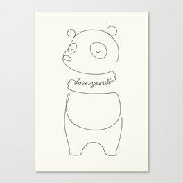 Love Yourself Panda Canvas Print