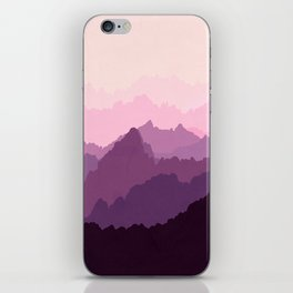 Mountains in Pink Fog iPhone Skin