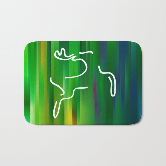 Flying deer Bath Mat