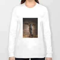 christ Long Sleeve T-shirts featuring Jesus Christ by Villads Andersen