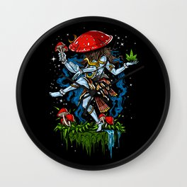 Magic Mushroom Lord Shiva Psychedelic Wall Clock