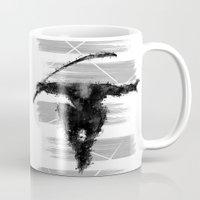 ninja Mugs featuring ninja  by jun salazar
