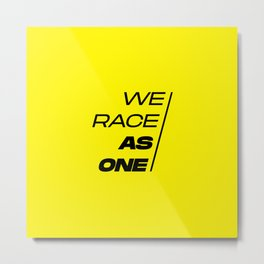 Race As One Textured Yellow Metal Print