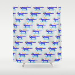 Cat Stay Cool Shower Curtain