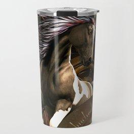 Steampunk, awesome horse Travel Mug
