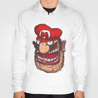 super mario Hoodies featuring Mario by Lime