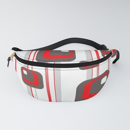 Vintage Retro Graphic white Fanny Pack