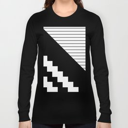 Phases Of Black And White Long Sleeve T-shirt