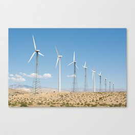 San Gorgonio Pass wind turbine Canvas Print