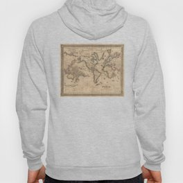 Vintage Map of the World (1850) Hoody
