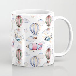 Sky Voyage Watercolor Coffee Mug