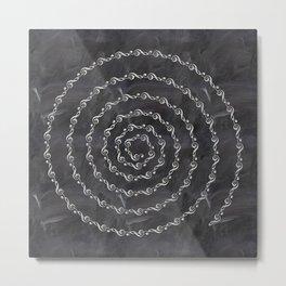 Sol key swirl on chalkboard Metal Print