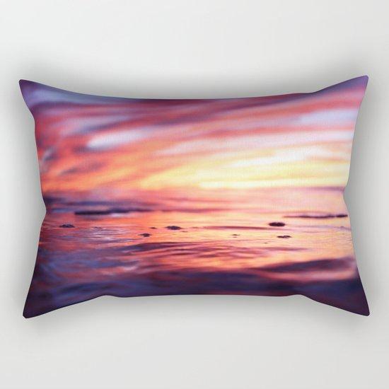 Miniature Sunset Beach Rectangular Pillow
