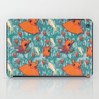 dumbo iPad Cases featuring Dumbo Octopi & Squid - Blue by Amy Jeanne WPG