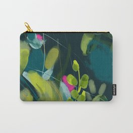abstract jungle fever leaves in floral green Carry-All Pouch