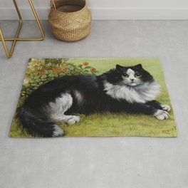Black & White Kitty - Louis Wain Cats Rug