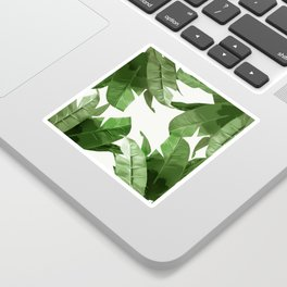 Tropical Palm Print Treetop Greenery Sticker