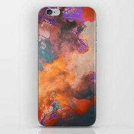 Colorful sky & clouds iPhone Skin