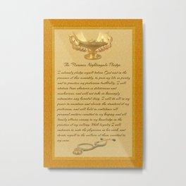 The Florence Nightingale Pledge Metal Print