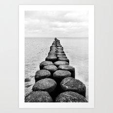 Wood vs. Waves Art Print