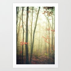 The Woods are Lovely Dark and Deep Art Print